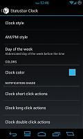 Statusbar Clock
