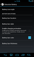 Statusbar Battery